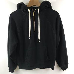 Forever 21 Hooded 1/4 Zip Pullover